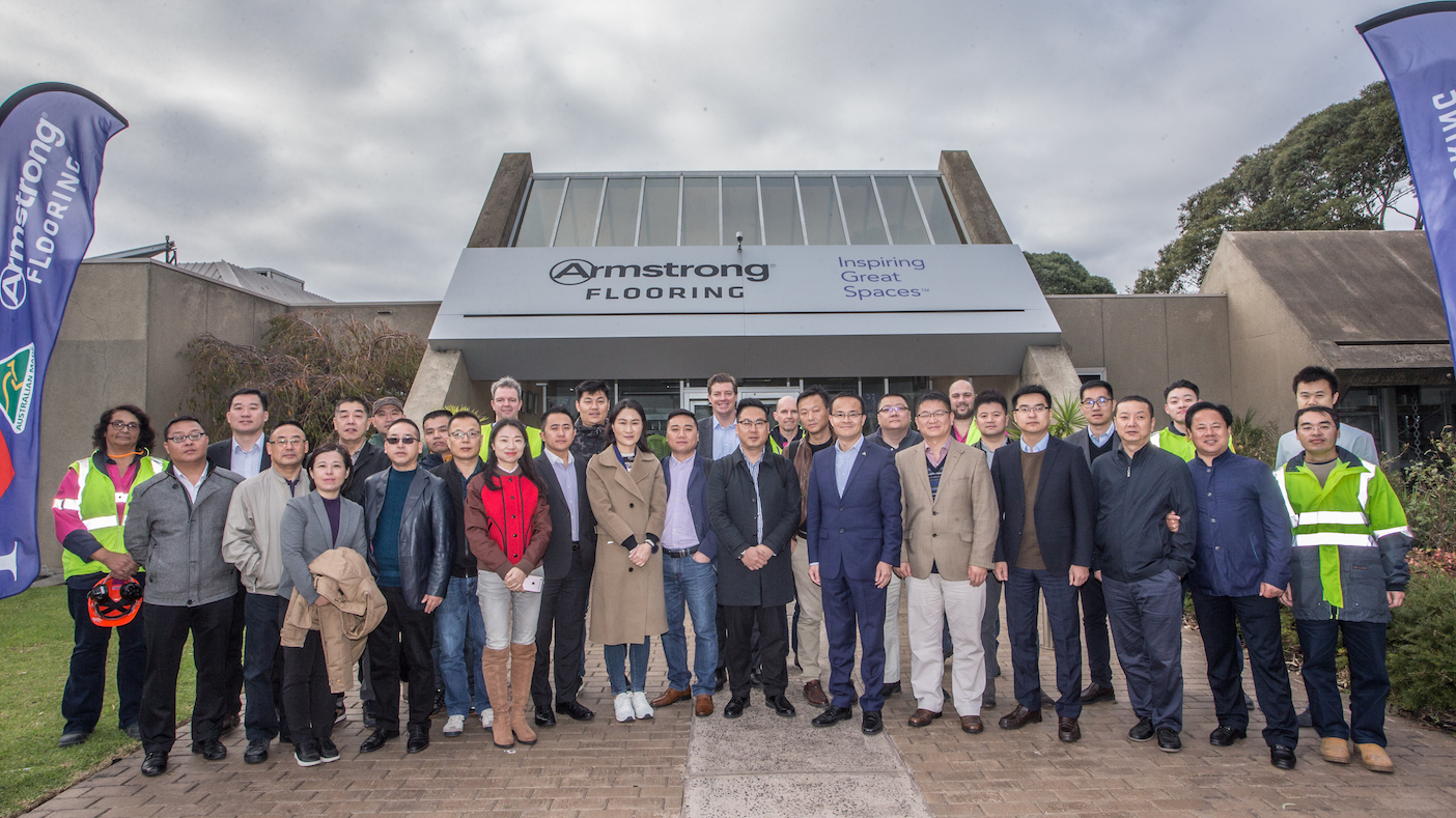 Chinese Delegation visits Armstrong Flooring in Melbourne